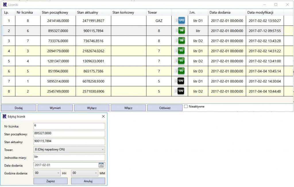 Konfiguracja liczników w aplikacji Kompix Liczniki