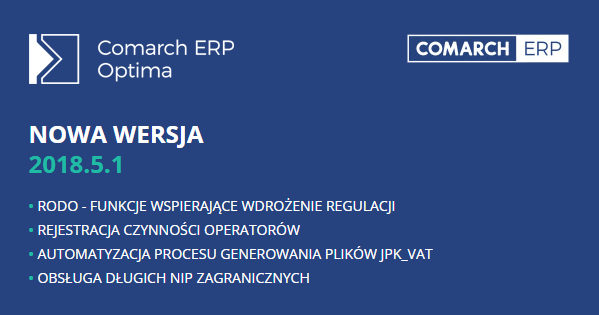 Comarch ERP Optima 2018.5.1