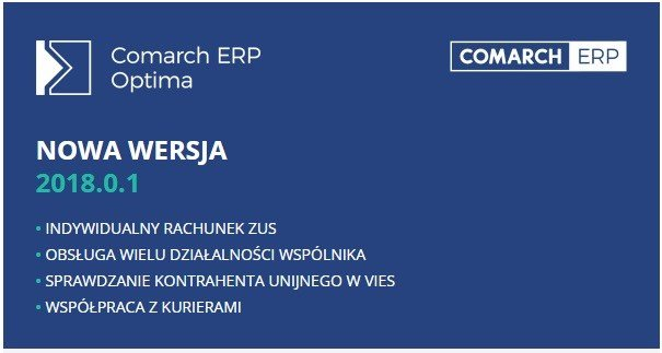 Comarch ERP Optima 2018.0.1