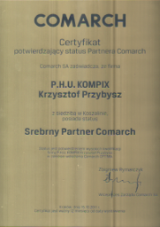 Srebrny partner Comarch