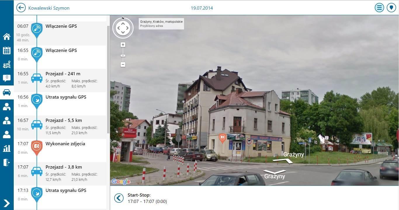 Monitorowanie trasy w Comarch Mobile Monitorowanie