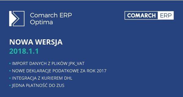 Comarch ERP Optima 2018.1.1