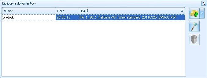Archiwum wydruków w Comarch ERP Optima Obieg Dokumentów
