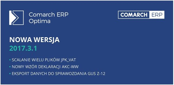 Comarch ERP Optima 2017.3.1