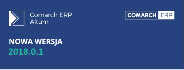Comarch ERP Altum 2018.0.1