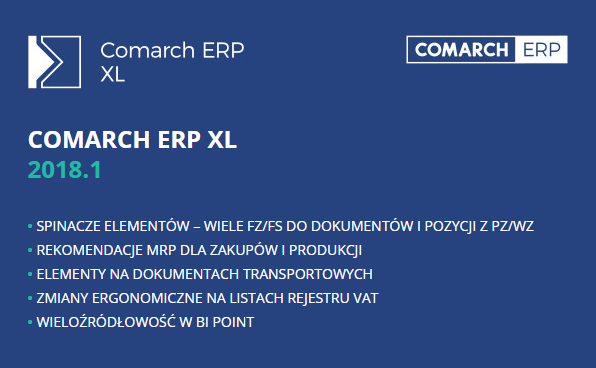 Comarch ERP XL 2018.1