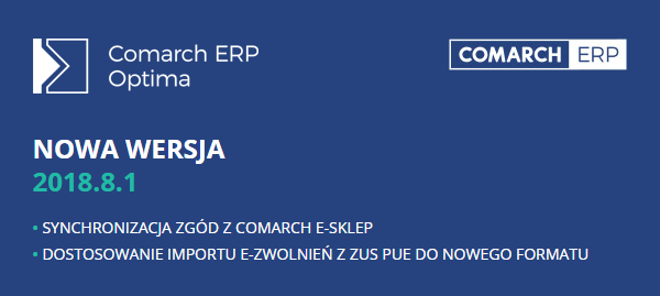 Comarch ERP Optima 2018.8.1