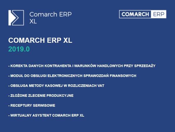 Comarch ERP XL 2019.0