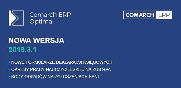 comarch erp optima 2019.3.1
