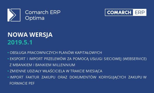 Comarch ERP Optima 2019.5.1